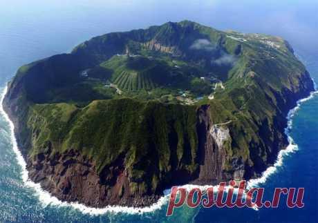 Село Аогасима, расположенное в кальдере одноименного вулкана.