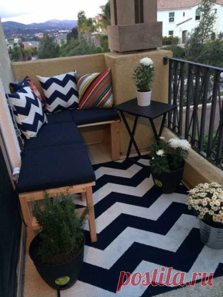 20 charming ideas how stylishly to equip a balcony