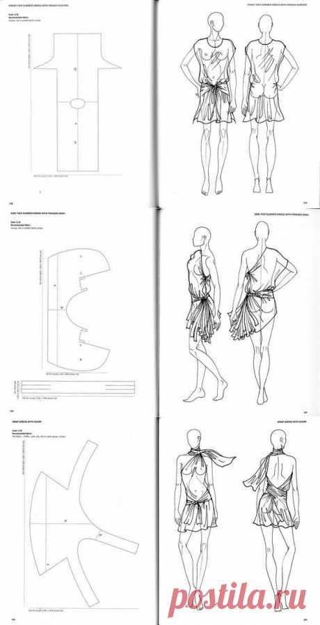 Simple pattern of a dress (selection) \/ Simple patterns \/ the Fashionable website about stylish alteration of clothes and an interior