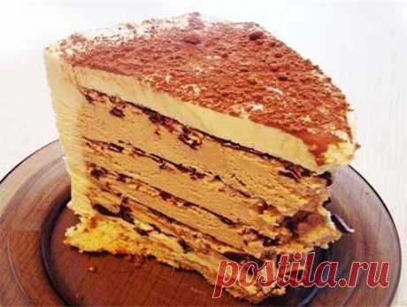 Торт без выпечки, кофейно-шоколадный