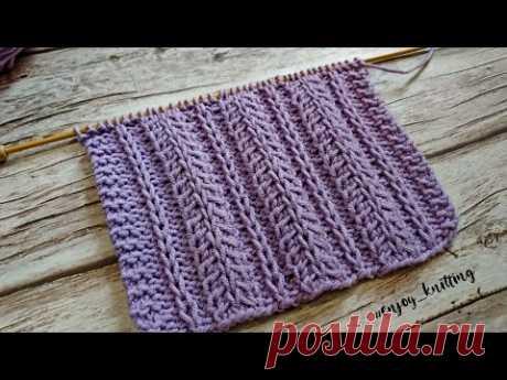 ШИКАРНЫЙ Узор для ШАПКИ спицами / Textured knitting stitch pattern
