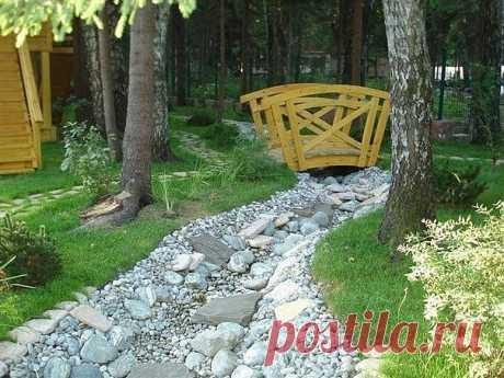 Идея сухих ручьев в саду — Сделай сам, идеи для творчества - DIY Ideas