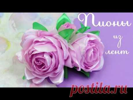 PEONIES from tapes the Hands \/ Peony (Peonies) Tutorial \/ ✿ NataliDoma DIY