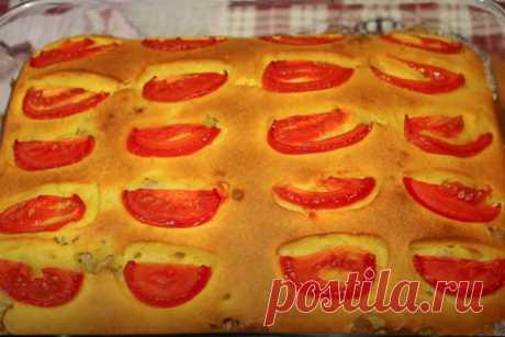 Заливной пирог с фаршем  Это очень простой и аппетитный рецепт