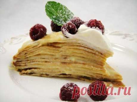 Блинный торт с заварным кремом: пошаговый рецепт с фото и советы кондитеров