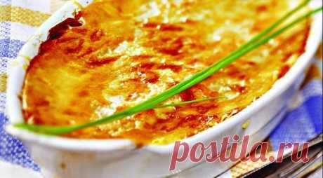 Гратен из картофеля и сельдерея