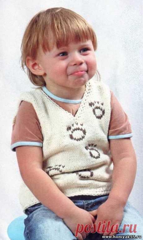 Жилеты, безрукавки для детей спицами » «Хомяк55» - всё о вязании спицами и крючком