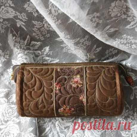 Шьем красивую косметичку из ткани для пэчворка – Ярмарка Мастеров