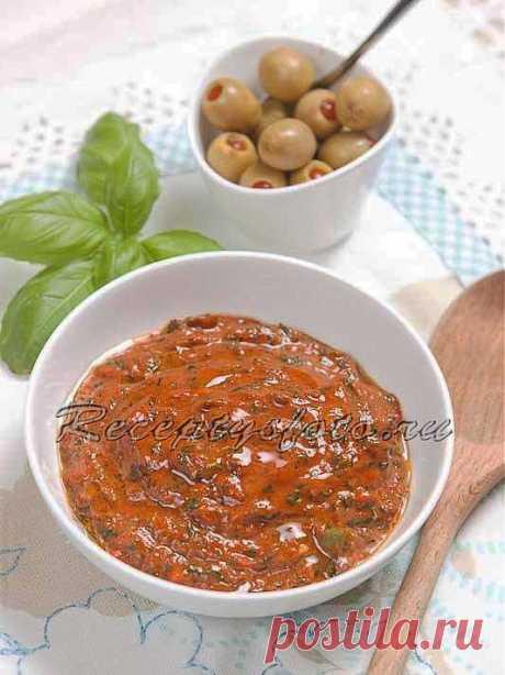 Соус песто с перцем и помидорами