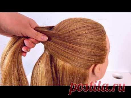 Прическа на длинные волосы Коса на резинках