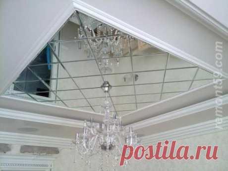 Зеркальный потолок как декоративный элемент современных интерьеров