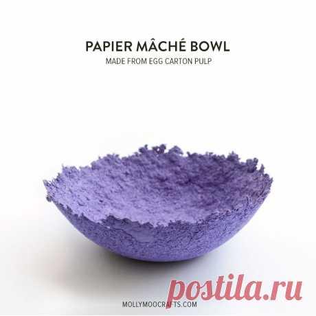 MollyMooCrafts Papier Mache Bowls - make from egg carton pulp