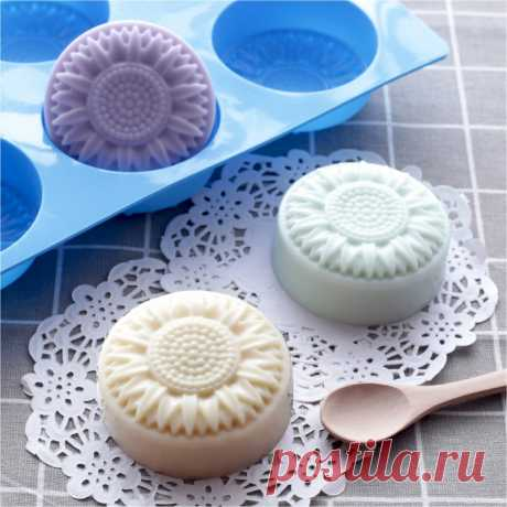 мыло в форме цветка  силиконовые