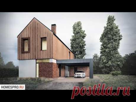 Проект двухэтажного барнхауса BARN-001-ZV