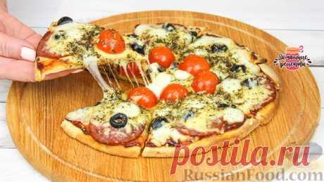 Рецепт: Пицца на сковороде, из теста на кефире на RussianFood.com