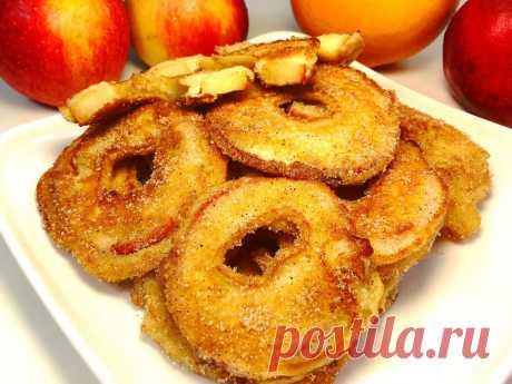 Яблочные кольца — отменный десерт за пару минут - Вкусные рецепты - медиаплатформа МирТесен