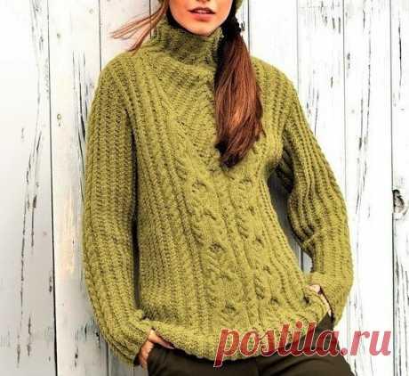 3 стильных свитера, связанных интересными узорами (с описанием) | Идеи рукоделия | Яндекс Дзен