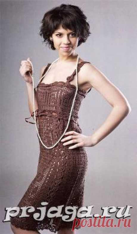 Платье и сарафан крючком или спицами