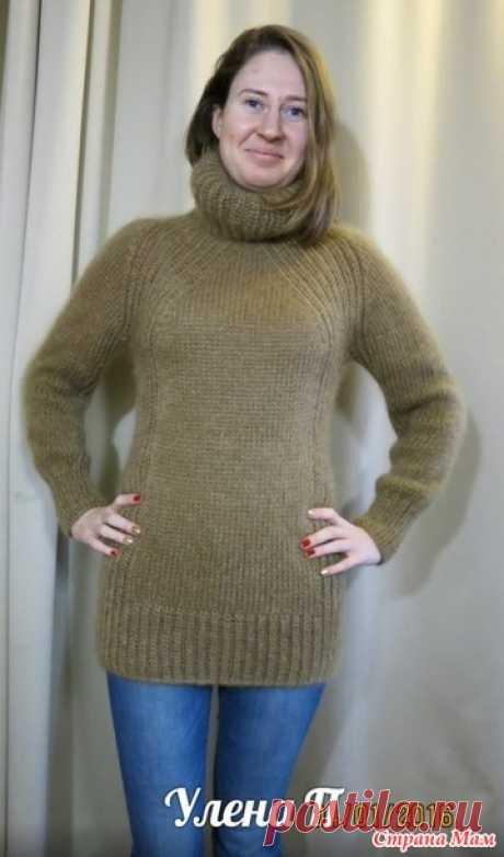 Mi nuevo modo perezoso de la labor de punto del raglán de arriba sin costuras. El jersey. Ha completado. - la labor de punto - el País de las Mamás