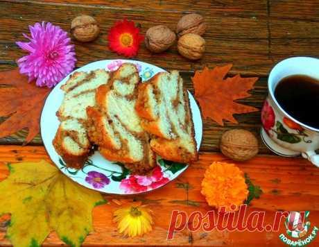 Творожная плетенка с орехами – кулинарный рецепт