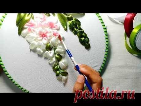 Ribbon Embroidery Flower [Hướng dẫn thêu hoa bằng ruy băng]