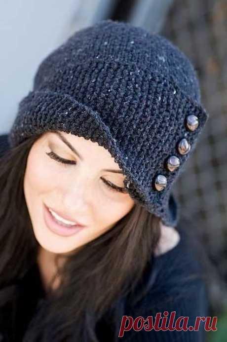 Как связать красивую и актуальную шапочку (2 варианта с описанием)   Рукоделие