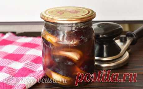 Маринованная слива с чесноком на зиму, пошаговый рецепт с фото