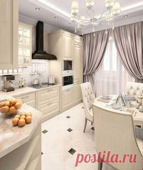Идеальный интерьер кухни, согласны?