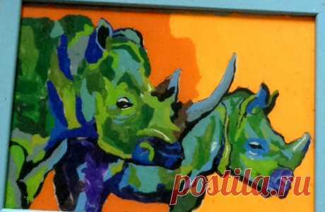 Пара носорогов
