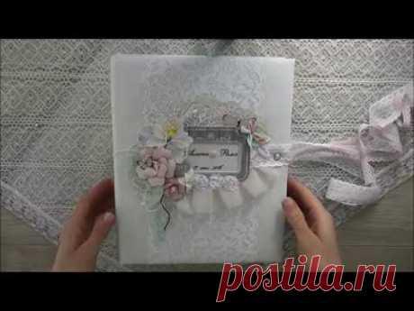 Свадебный альбом нежный цветочно-бабочковый (видео обзор)