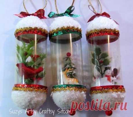 Новогодний сувенир из пластиковой бутылки