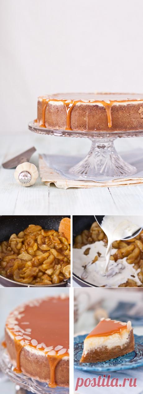 Чизкейк с карамельными яблоками - My recipe book