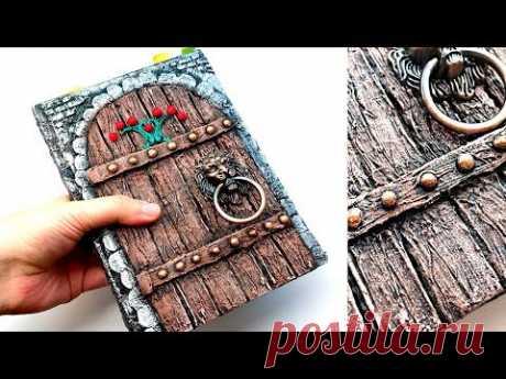 Декор блокнота своими руками | Имитация дерева