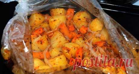 Нежный картофель в рукаве