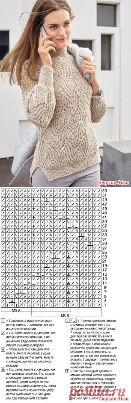 яркий свитер к зиме - ВЯЗАНАЯ МОДА+ ДЛЯ НЕМОДЕЛЬНЫХ ДАМ - Страна Мам
