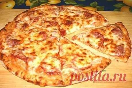 Тонкая итальянская пицца с салями рецепт – итальянская кухня: паста и пицца. «Еда»