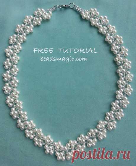 Бесплатный шаблон для ожерелья Magnolia | Бусы