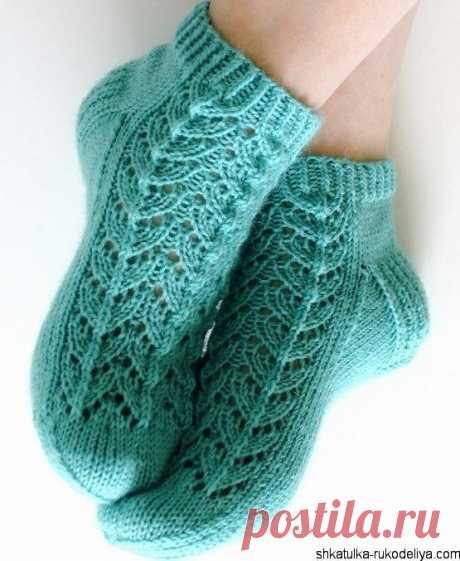 Ажурные носки спицами схема. Вязание кружевных носков | Шкатулка рукоделия. Сайт для рукодельниц.
