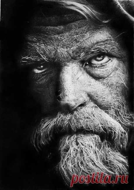 Гиперреализм в рисунках Франко Клуна. Глядя на эти работы, сложно поверить, что это не черно-белые фотографии, а карандашные рисунки.