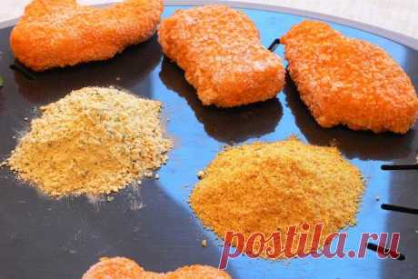 Панировка: что это такое, виды и цвета (для мяса, рыбы), рецепт панировочных сухариков (из манки, кукурузной муки, жидкий кляр), как использовать