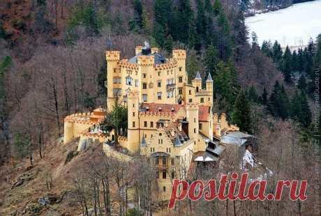 Замок Хоэншвангау, Фюссен, Германия.