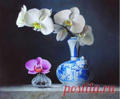 Орхидеи — сбор пазла — Пазлы онлайн