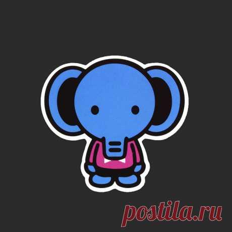 Мультфильм милый синий слон Стикеры путешествия Тетрадь ноутбука прохладный человек Стикеры s чемодан холодильник DIY виниловые наклейки B 41купить в магазине Lisa Dreamy World StoreнаAliExpress
