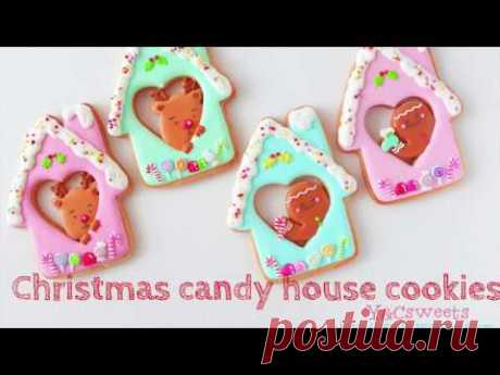 【Christmas candy house cookies】クリスマスアイシングクッキー
