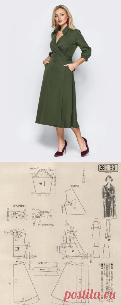 Выкройка платья с запахом / Простые выкройки / ВТОРАЯ УЛИЦА