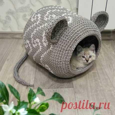 Как хорошо уметь вязать: Домик для котика...