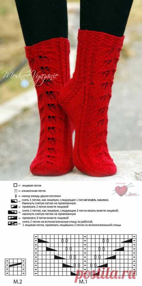 Коллекция узоров для красивых носочков.