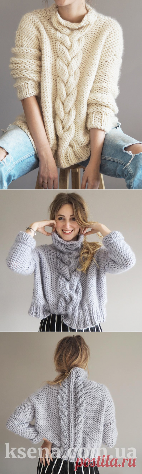 вязание на заказ - женский вязаный свитер купить - Ksena