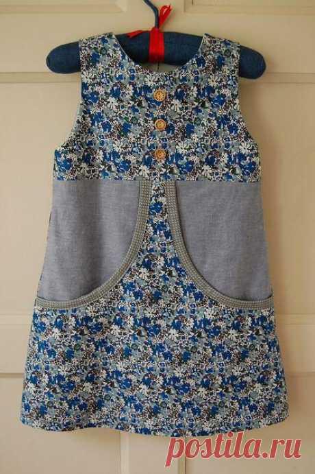 Оригинальные платья для девочек ( выкройки и идеи ) » Женский Мир