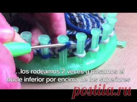Cómo hacer mitones guantes sin dedos con telar circular